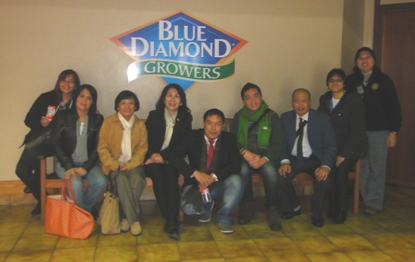 Benchmarking/ visit to Blue Diamond (almond) Growers in Sacramento, CA