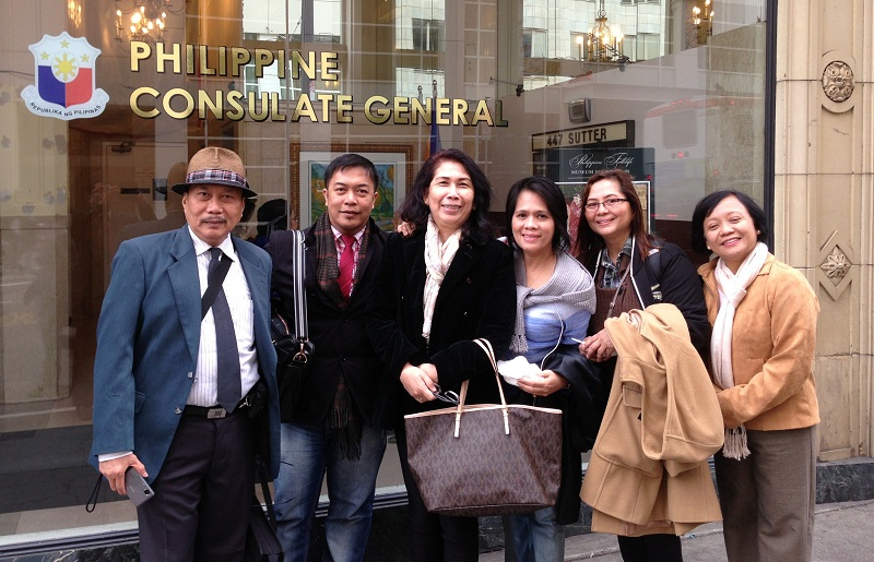 The Mission Participants at the Philippine Consulate in San Francisco.